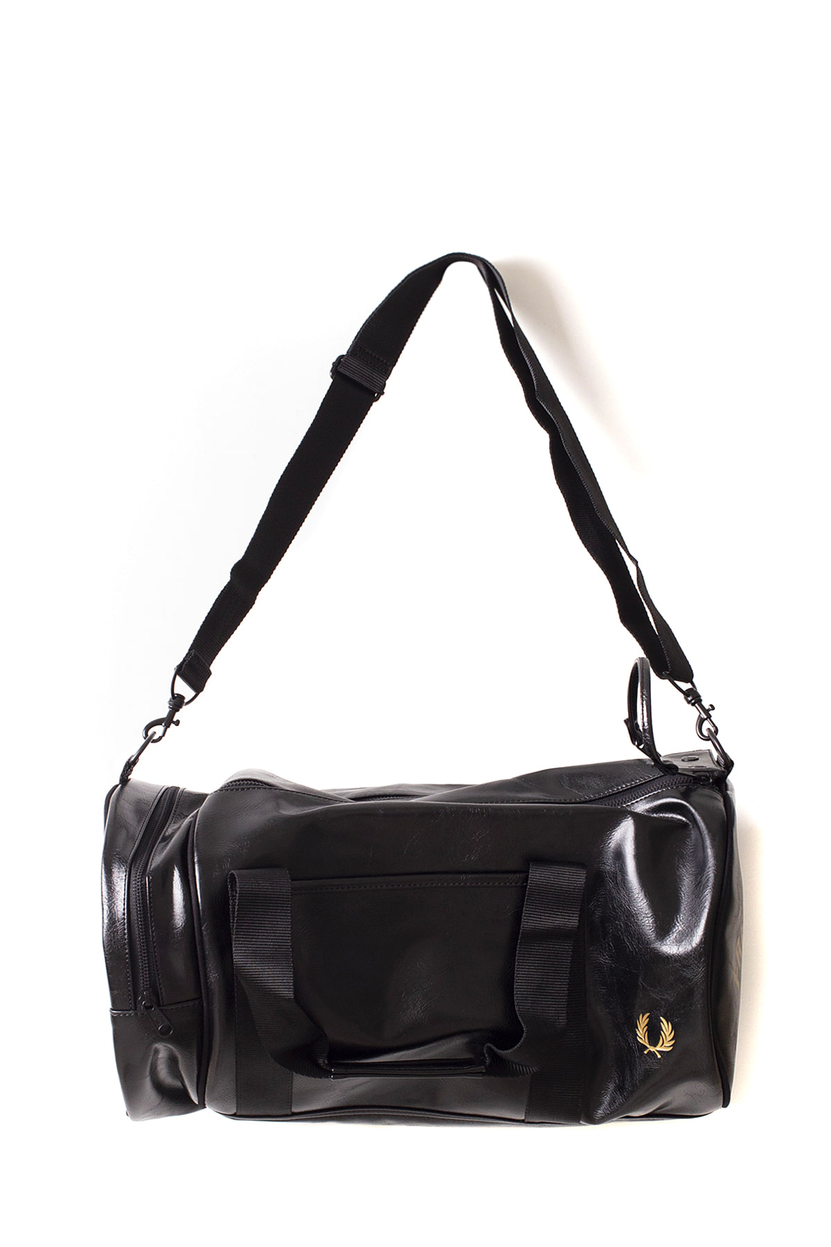 4c40b9487c62 FRED PERRY   Classic Barrel Bag (Black   Gold) - IAMSHOP-ONLINE